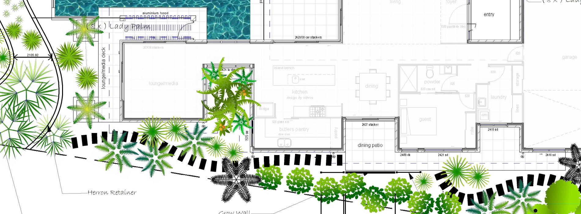 landscape cad plan