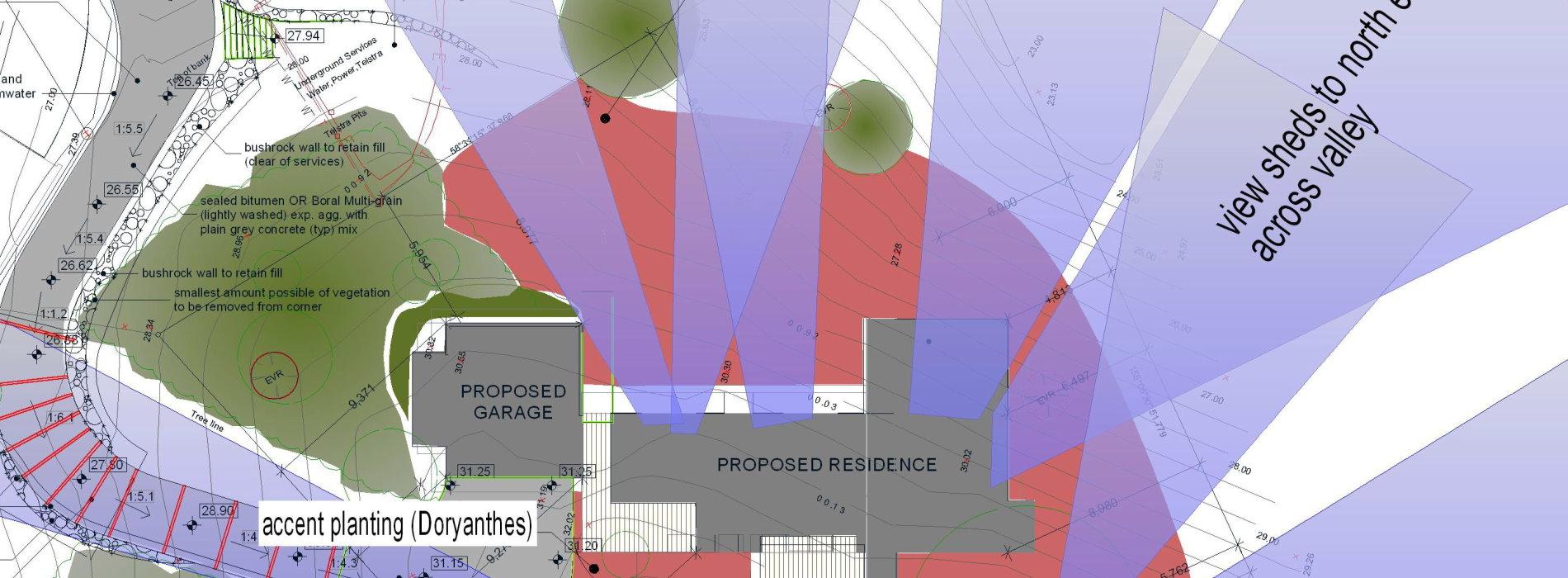 landscape view shed plan