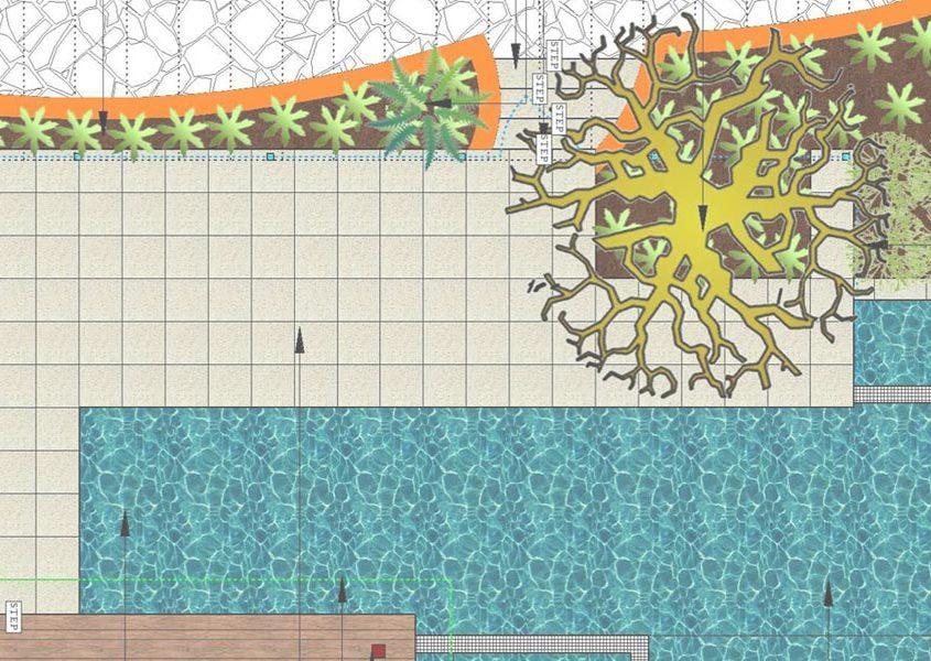 LANDWorksCAD Coloured Plan